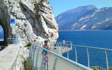 nordic walking pista ciclabile lago di Garda