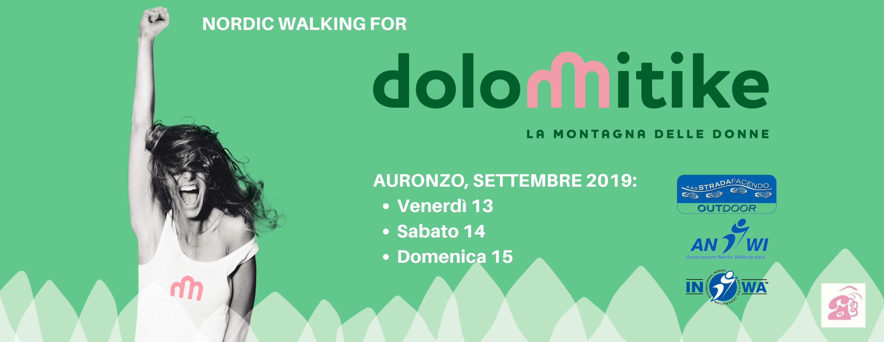 nordic walking dolomitike