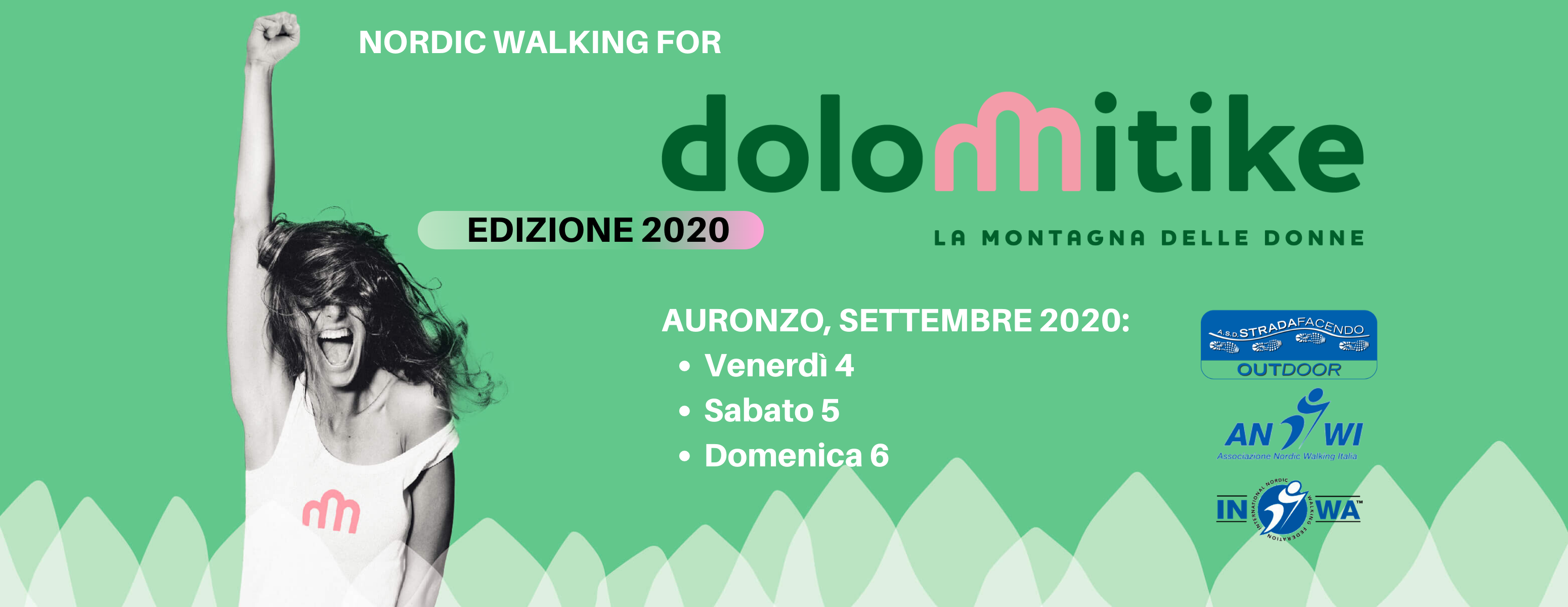 nordic walking dolomitike 2020